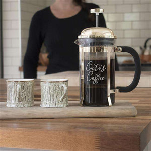Personalised Glass Cafetiere from Pukkagifts.uk