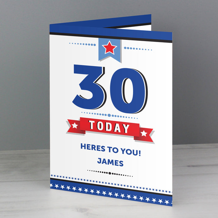 Personalised Age Birthday Star Card