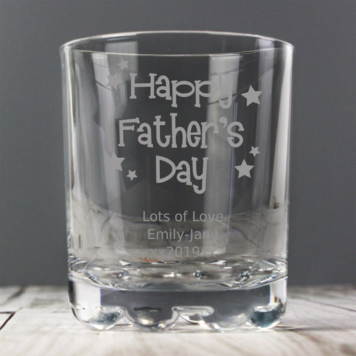 Personalised Happy Father's Day Whisky Glass