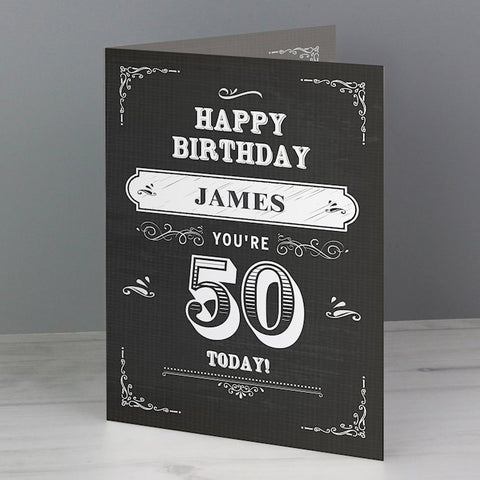 Personalised Vintage Typography Age Birthday Card from Pukkagifts.uk