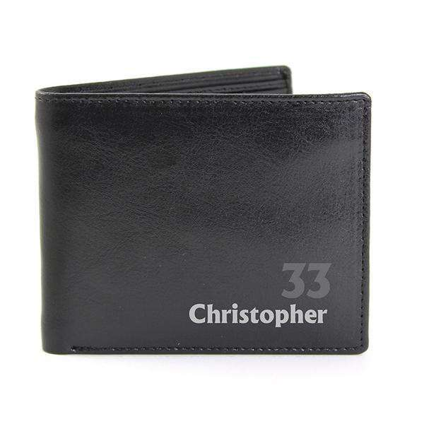 Personalised Birthday Leather Wallet from Pukkagifts.uk