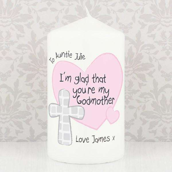 Personalised Godmother Candle from Pukkagifts.uk
