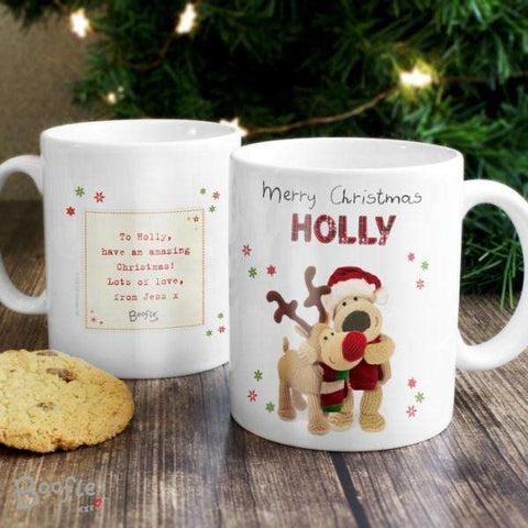 Personalised Boofle Christmas Reindeer Mug from Pukkagifts.uk