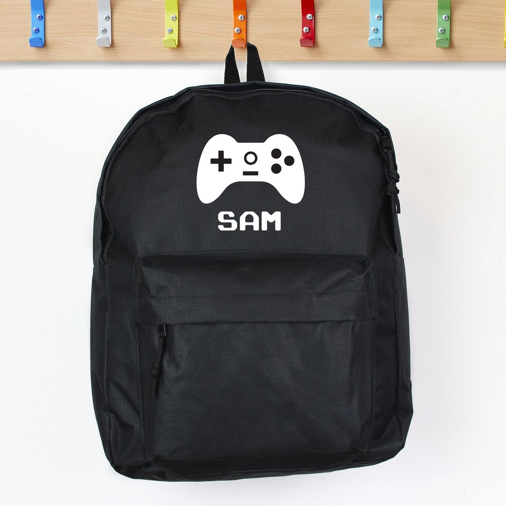 Personaliser Gaming Black Backpack