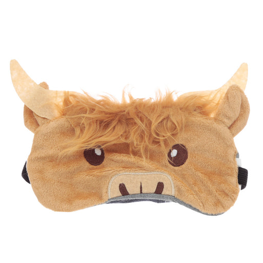 Plush Highland Coo Cow Eye Mask