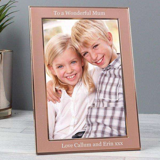 Personalised Rose Gold Photo Frame 4x6 from Pukkagifts.uk