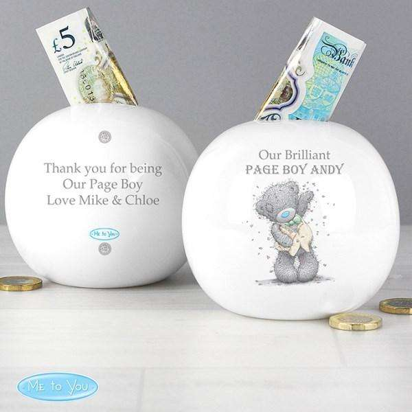 Personalised Me To You Male Wedding Money Box from Pukkagifts.uk