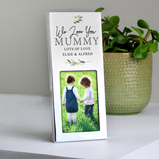 Personalised Botanical Photo Frame 2x3
