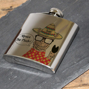 Personalised Alpaca Hip Flask from Pukkagifts.uk