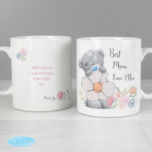Personalised Me to You Floral Mug | Gift For Her | Mum | Birthday