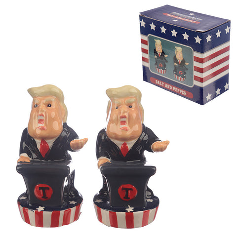 Novelty Donald Trump Salt and Pepper Shaker Set