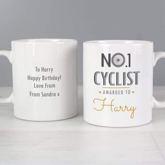Personalised No.1 Cyclist Mug from Pukkagifts.uk