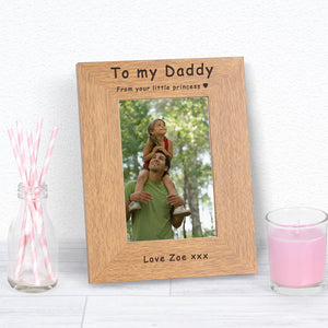 Personalised Daddy Your Little Princess Photo Frame from Pukkagifts.uk