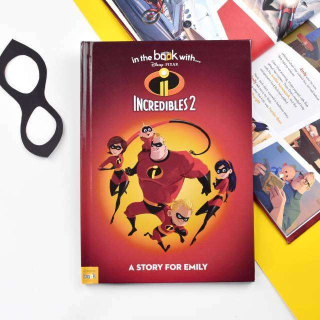 Personalised Disney's The Incredibles 2 Story Book from Pukkagifts.uk