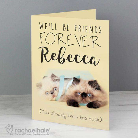 Personalised Rachael Hale Friends Forever Cat Card,Pukka Gifts