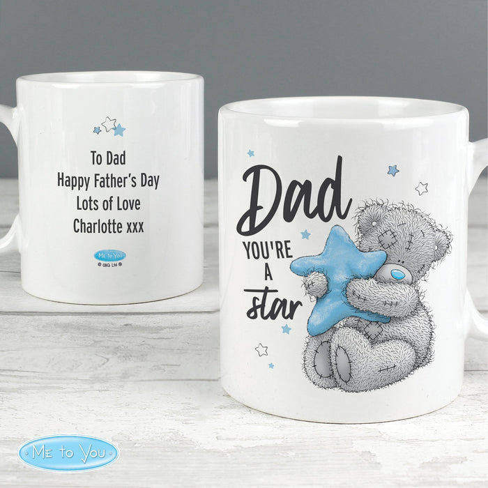 Personalised Me To You Dad You're A Star Mug