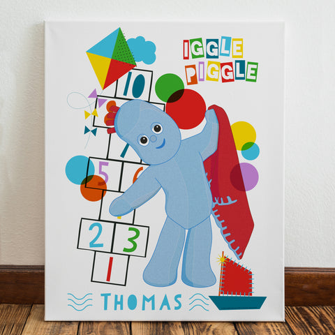 Personalised Igglepiggle Hopscotch In The Night Garden Canvas