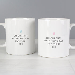 Personalised Hubby & Wifey Mug Set