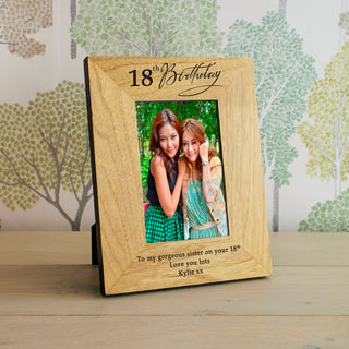 Personalised Age Birthday Photo Frame from Pukkagifts.uk