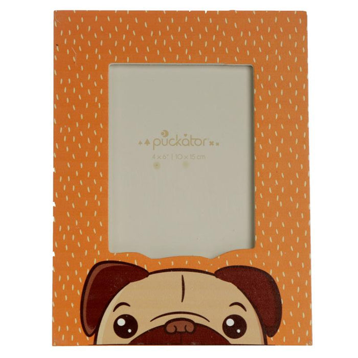 Pug Wooden Photo Frame 6x4