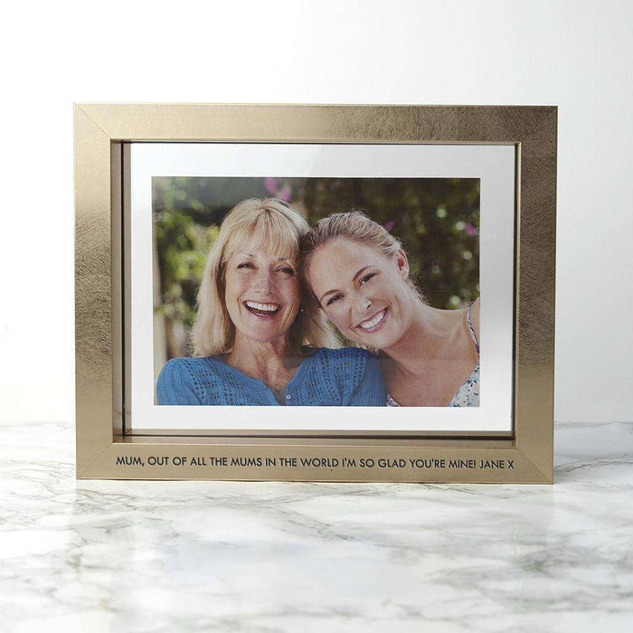Personalised Gold Metallic Photo Frame from Pukkagifts.uk