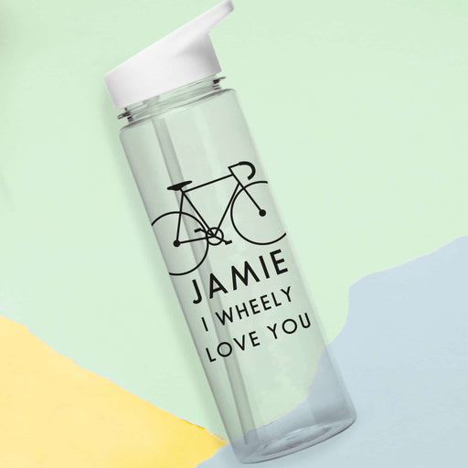 Personalised I Wheely Love You Water Bottle
