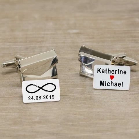 You And Me Infinity Envelope Cufflinks from Pukkagifts.uk