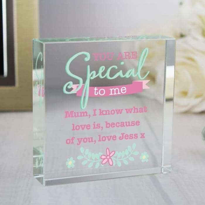 Personalised 'You Are Special' Large Crystal Token from Pukkagifts.uk
