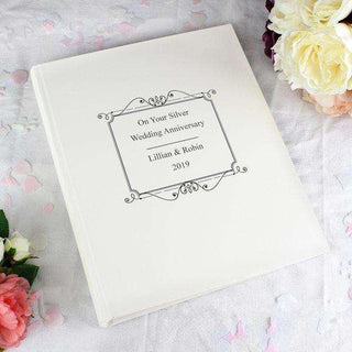 Personalised Silver Traditional Photo Album from Pukkagifts.uk