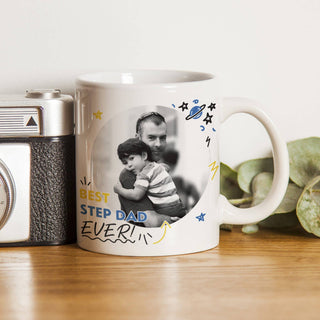 Best Step Dad Ever Photo Upload Mug