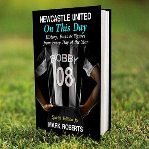 Personalised Newcastle United On This Day Book from Pukkagifts.uk