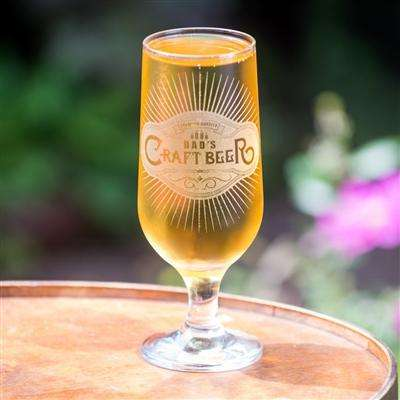 Tall Personalised Craft Beer Glass,Pukka Gifts
