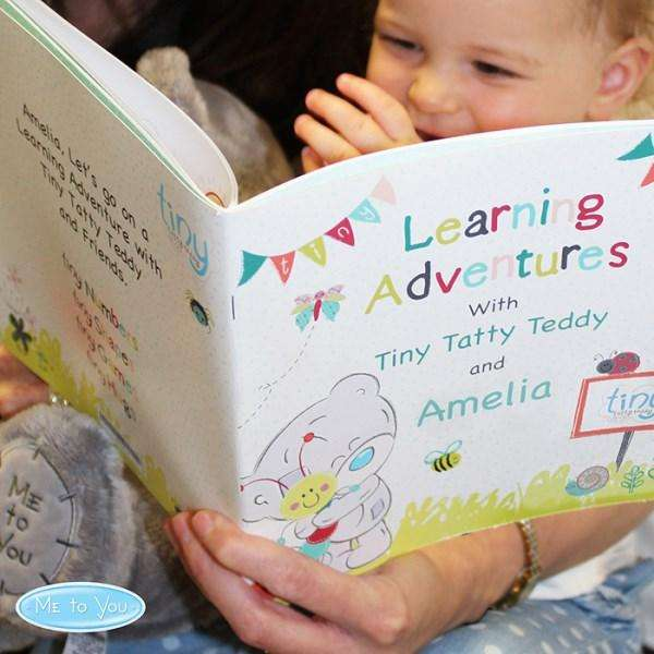 Personalised Tiny Tatty Teddy Learning Adventure Book from Pukkagifts.uk