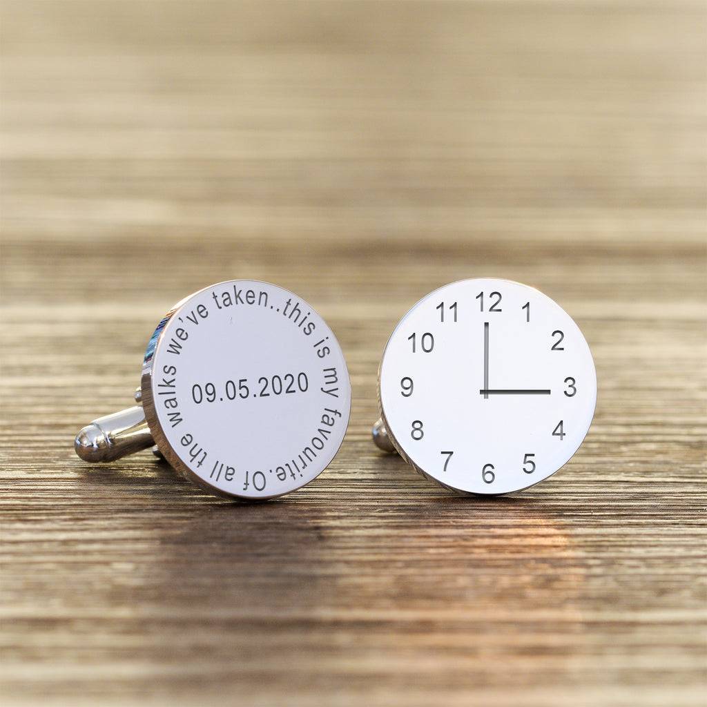 Personalised Of All The Walks We've taken This My Favourite Time Cufflinks
