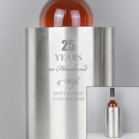 Personalised Anniversary Wine Cooler From Pukkagifts.uk