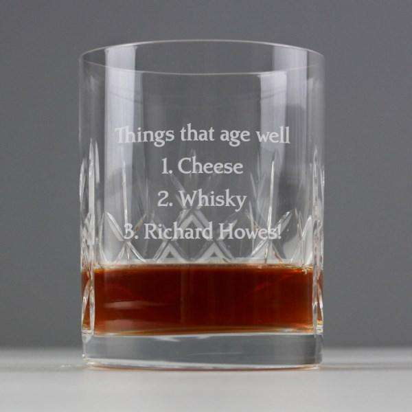 Personalised Crystal Whisky Glass Tumbler from Pukkagifts.uk