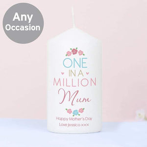Personalised One in a Million Candle | Gift For Mother's Day | Mum | Nan | Grandma | Sister | Friend