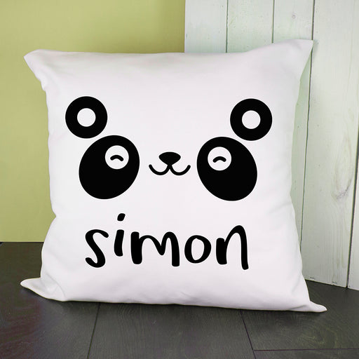 Personalised Cute Panda Eyes Cushion Cover from Pukkagifts.uk