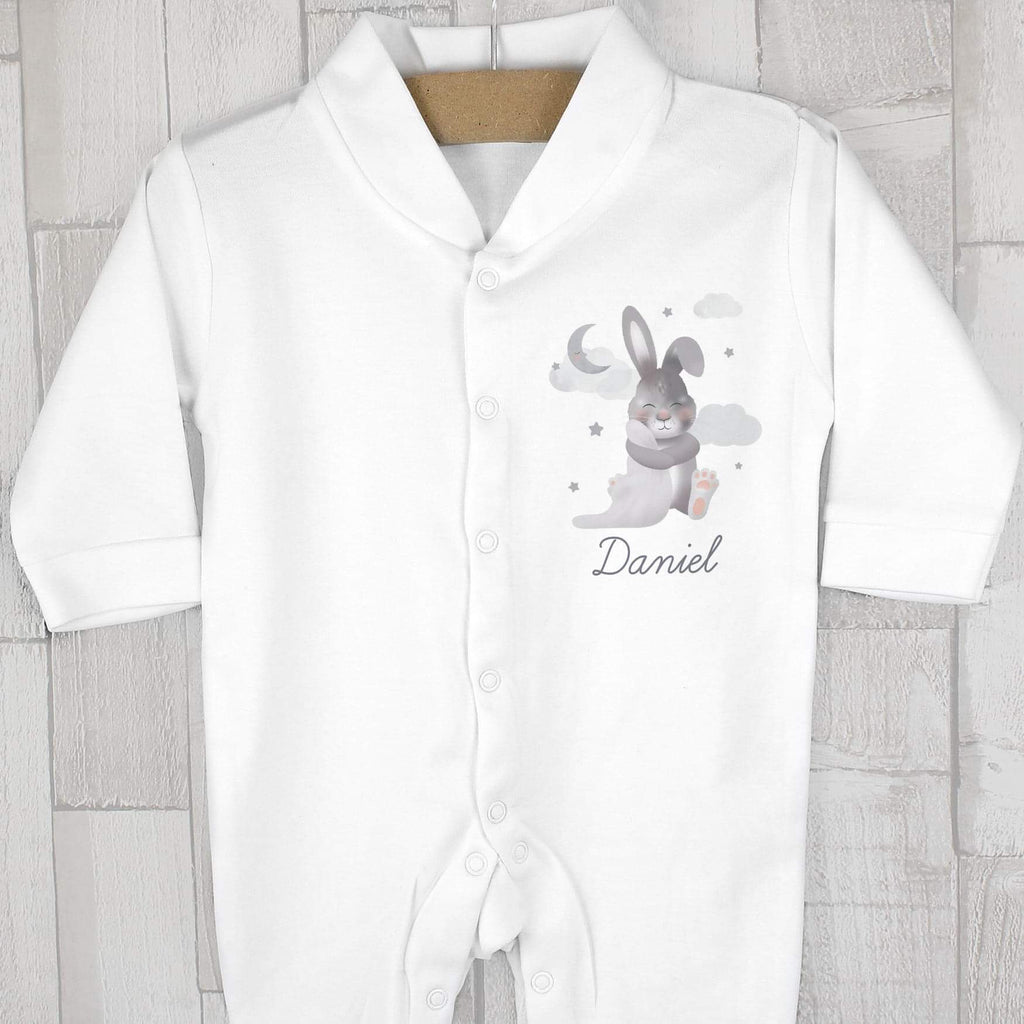 Personalised Baby Bunny Baby Grow from Pukkagifts.uk