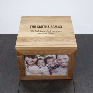 Personalised The Best Thing About Memories Are Making Them Family Photo Frame Box from Pukkagifts.uk