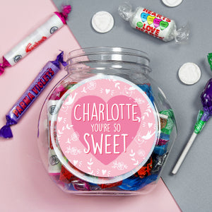 Personalised You're So Sweet Sweet Jar