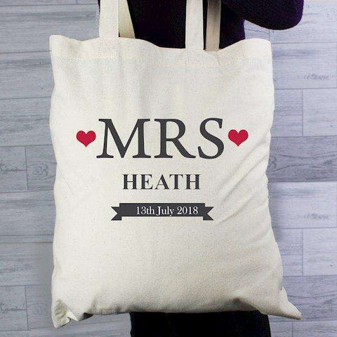 Mrs... Personalised Cotton Tote Bag,Pukka Gifts