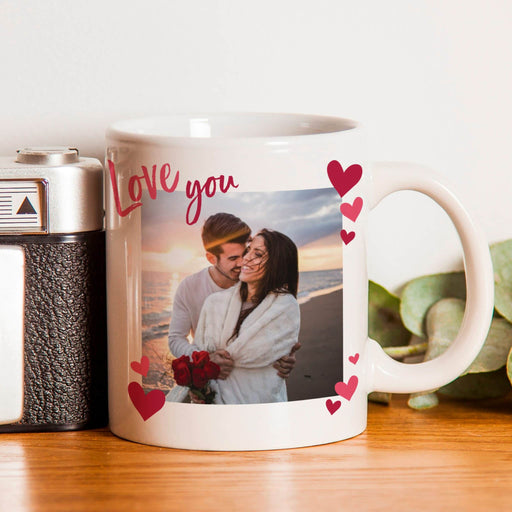 Love You Photo Upload Mug