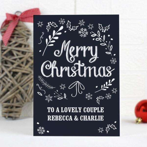 Personalised Merry Christmas Frost Card from Pukkagifts.uk