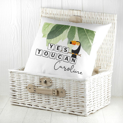 Personalised Yes Toucan Cushion Cover