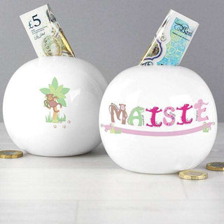 Personalised Girls Animal Money Box from Pukkagifts.uk