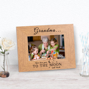 We Love You To The Moon And Back Photo Frame