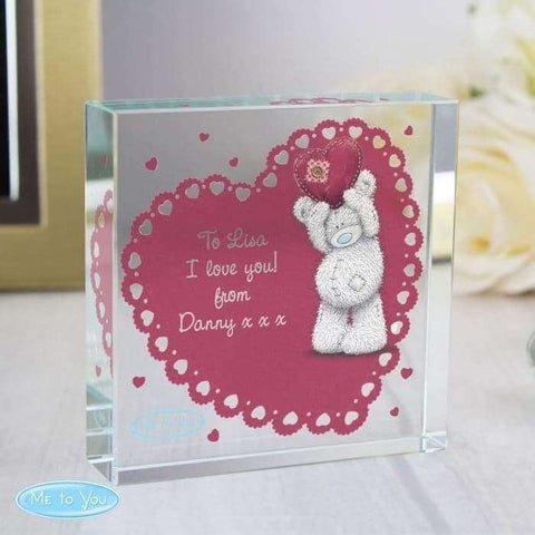 Personalised Me To You Heart Large Crystal Token,Pukka Gifts