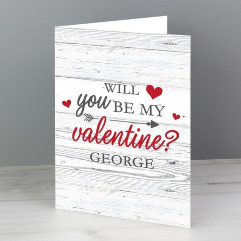 Personalised Will You Be My Valentine Card from Pukkagifts.uk