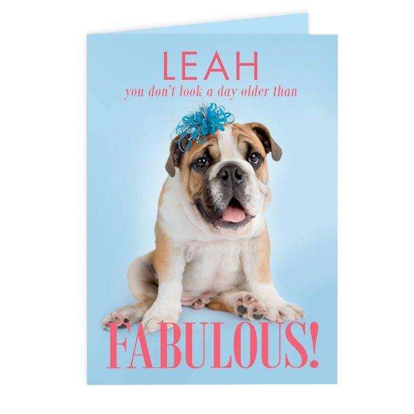 Personalised Rachael Hale Fabulous Birthday Card from Pukkagifts.uk